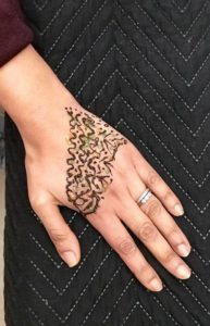 henna tattoo design by Tworld Training Student