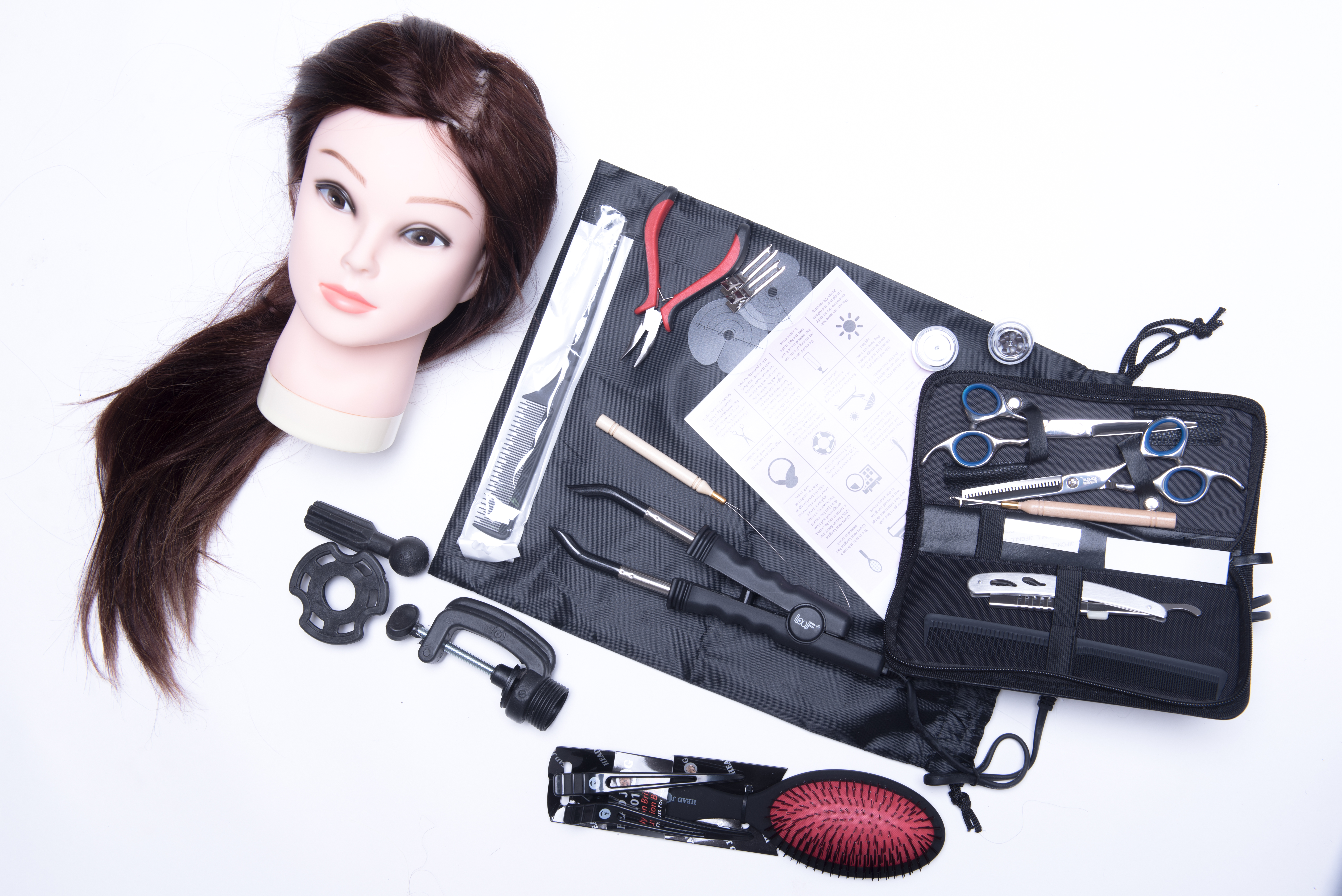 Hair extension kit for students who take our hair extension courses.